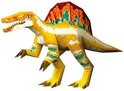 """Хартиен свят: Спинозавър - Модел за сглобяване от серията """"Ерата на динозаврите"""" - хартиен модел"""