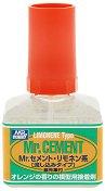 Лепило за пластмасови модели и макети с аромат на портокал - Mr. Cement Limonene Type - Шишенце с четка от 40 ml -