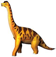 """Хартиен свят: Брахиозавър - Модел за сглобяване от серията """"Ерата на динозаврите"""" - хартиен модел"""