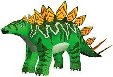 """Хартиен свят: Стегозавър - Модел за сглобяване от серията """"Ерата на динозаврите"""" - хартиен модел"""