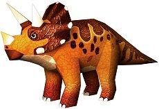 """Хартиен свят: Трицератопс - Модел за сглобяване от серията """"Ерата на динозаврите"""" - хартиен модел"""