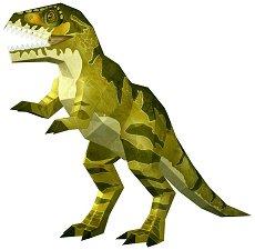 """Хартиен свят: Тиранозавър Рекс - Модел за сглобяване от серията """"Ерата на динозаврите"""" - хартиен модел"""