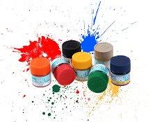 Акрилна боя на водна основа - Mr. Aqueous Hobby Color: Гланцова - Боичка за оцветяване на модели и макети - 10 ml - продукт