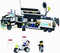 """Полицейски камион с ремарке - Конструктор от серията """"Police"""" -"""