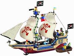 """Пиратски кораб - King of the Sea - Конструктор от серията """"Pirates"""" - играчка"""