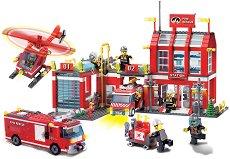 """Голяма пожарна станция - Конструктор от серията """"Fire Rescue"""" -"""