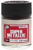 Акрилна боя на ацетонова основа - Mr. Super Metallic Color: Супер металик - Боичка за оцветяване на модели и макети - 18 ml -