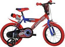"""Спайдърмен - Детски велосипед 16"""" - раница"""