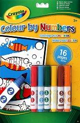 Книжка за оцветяване с 6 маркера -