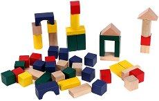 Геометрични фигури - Дървен конструктор - играчка