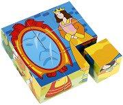Дървени кубчета - Приказни герои - Образователна играчка -
