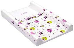 """Бебешки повивалник - Розови къщички - От серията """"Dino"""" с размер  80 / 50 / 9 cm - продукт"""
