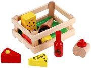 На пазар за млечни продукти - Дървена играчка - играчка