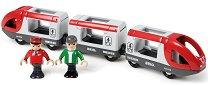 Пътнически влак - Детски комплект с две фигурки - играчка