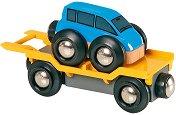 Детски вагон-автовоз - Комплект с количка - играчка