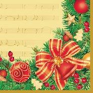 Салфетки - Коледна мелодия - Пакет от 20 броя