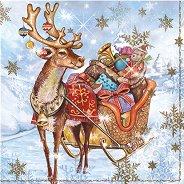 Салфетки - Коледна шейна - Пакет от 20 броя