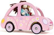 Автомобил - Детски дървен аксесоар за кукли - играчка