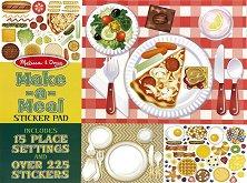 Блокче със стикери за многократна употреба - Приготви храна - творчески комплект