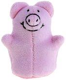 Кукла за пръстче - Прасе - Плюшена играчка за куклен театър - играчка