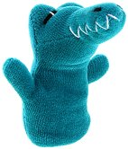 Кукла за пръстче - Крокодил - Плюшена играчка за куклен театър - играчка