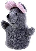 Кукла за пръстче - Мишка - Плюшена играчка за куклен театър - играчка