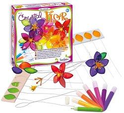 Създай сама - Цветя от цветно стъкло - Творчески комплект -
