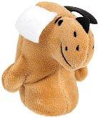 Кукла за пръстче - Куче Басет - Плюшена играчка за куклен театър - играчка