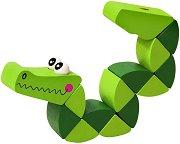 Крокодил - Дървена играчка с подвижни елементи - играчка