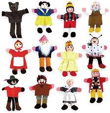 Кукли за пръсти за куклен театър - Комплект от 12 броя - хартиен модел
