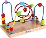 Лабиринт - Спирала - Дървена играчка - играчка