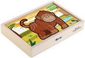 Джунгла - 4 пъзела в дървена кутия - пъзел