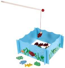Риболов - Дървена играчка с магнит - детски аксесоар