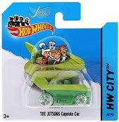 """Метална количка - The Jatsons Capsule Car - Играчка от серията """"Hot Wheels - City"""" - играчка"""