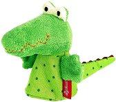 Кукла за пръстче - Крокодил - Плюшена играчка за куклен театър -