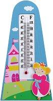 Дървен термометър за детска стая - Принцеса - играчка