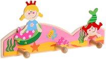 Детска дървена закачалка - Русалки -