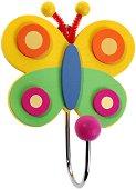 Детска дървена закачалка - Пеперуда -