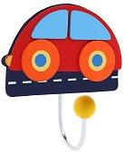 Детска дървена закачалка - Автомобил -