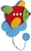 Детска дървена закачалка - Самолет -