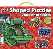 Строителни машини - Комплект 4 пъзела в кутия - пъзел