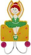 Детска дървена закачалка - Балерина -