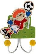 Детска дървена закачалка - Футболист -