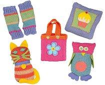 Първи стъпки в плетенето - Творчески комплект в куфарче - играчка