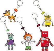 Създай сам - Ключодържатели роботи - Творчески комплект - играчка