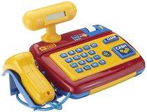 Детски касов апарат с баркод четец и аксесоари - Играчка със светлинни и звукови ефекти - играчка