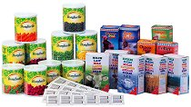 Комплект хранителни продукти за игра -