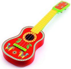Китара - Animambo - Детски дървен музикален инструмент - играчка