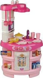 Детска кухня - Disney Princess - Със звукови ефекти и аксесоари - количка