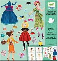 Облечи куклите - Massive Fashion - Творчески комплект със стикери -